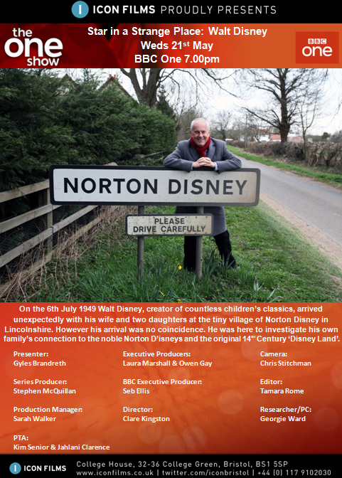 Gyles in Norton Disney for The One Show