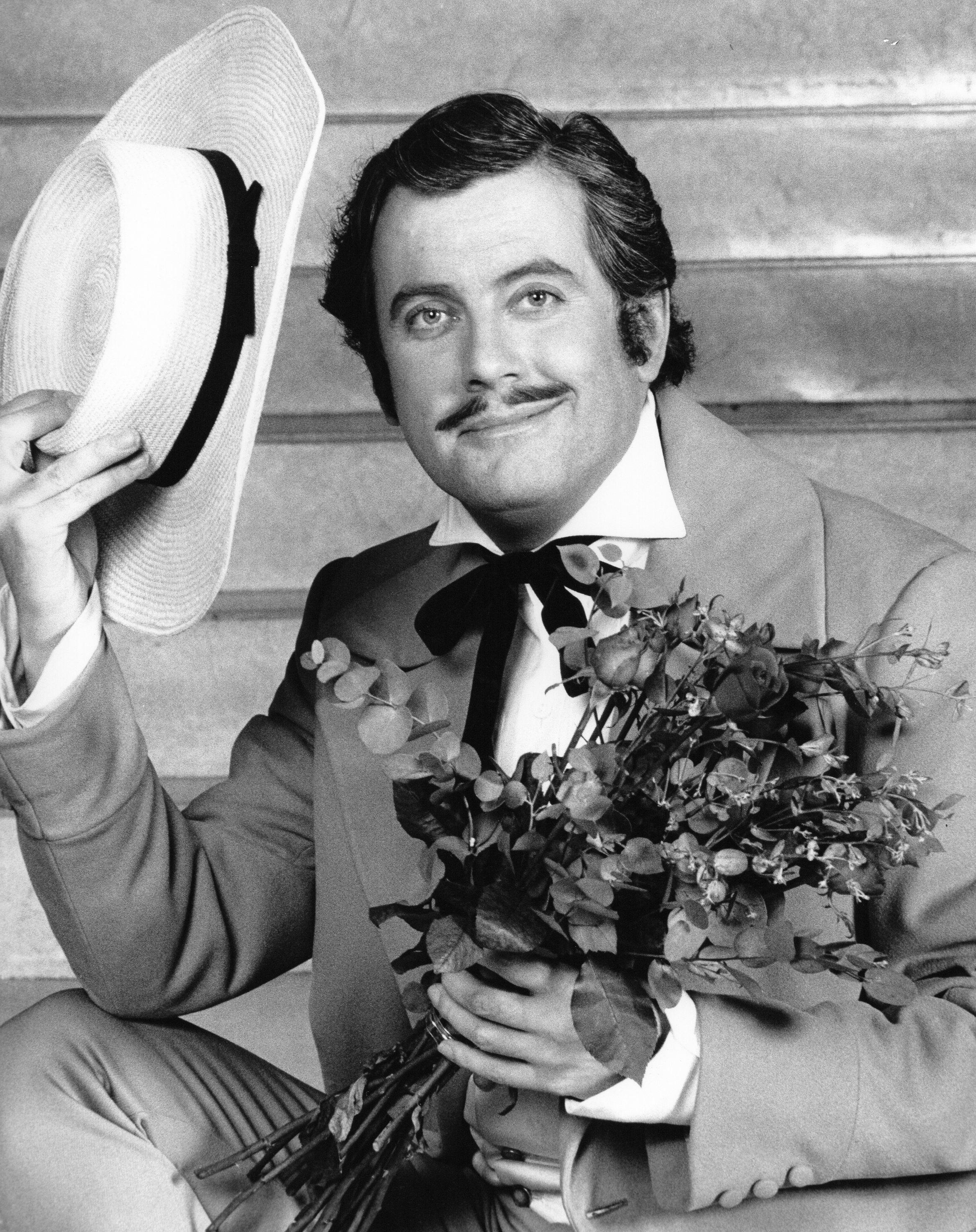 Gyles Brandreth as Rhett Butler, TV-am, 1987