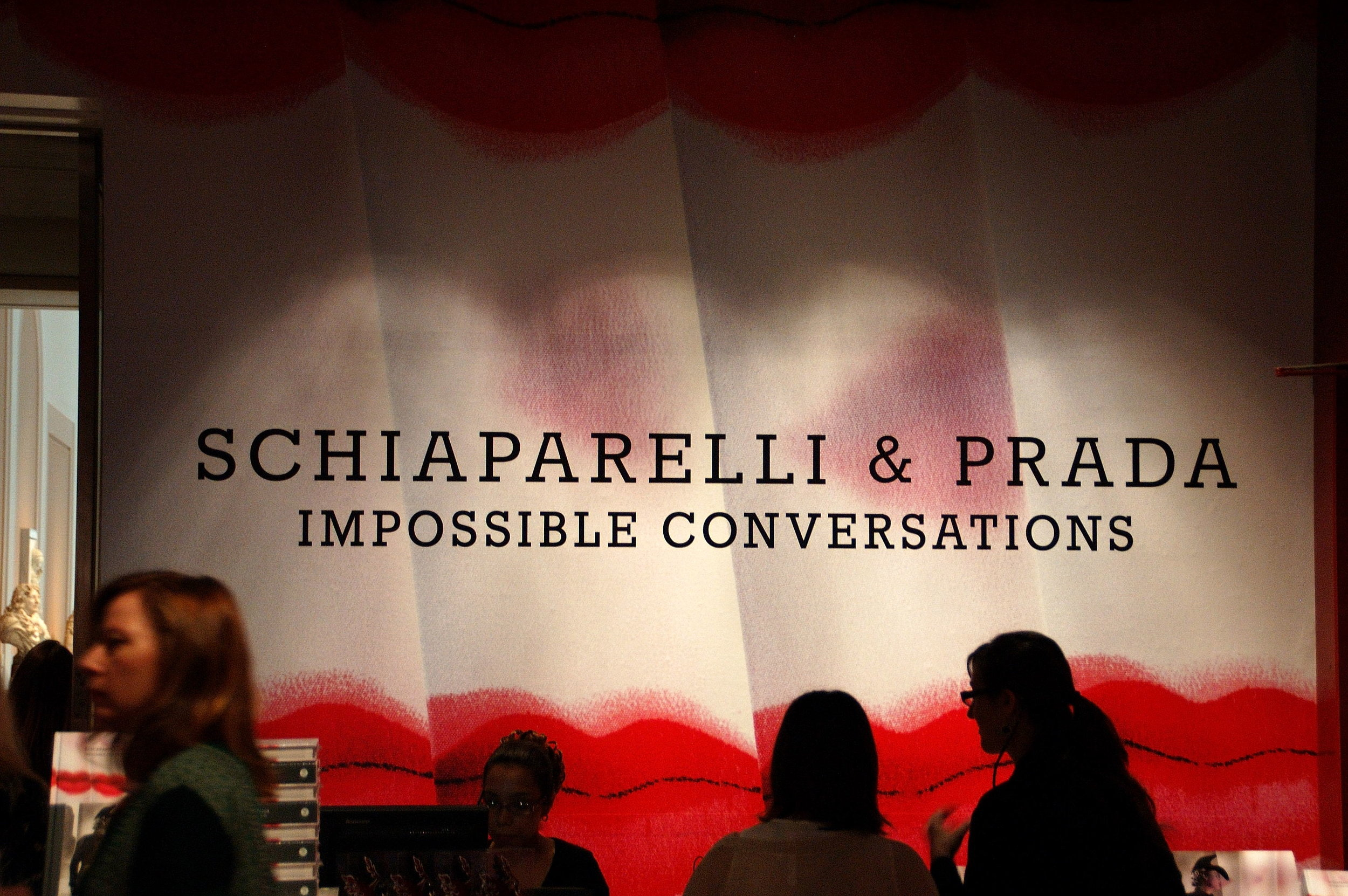 """Entrance to the """"Impossible Conversations"""" Exhibition"""
