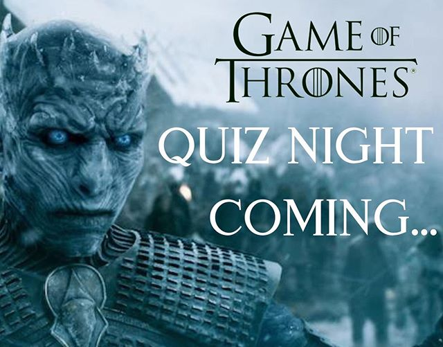 Quiz night is coming!  Feeling a void in your life now that the adventures of the intrepid Westeros gang are no more? Well come and relive all 8 bloody seasons with our first Cakes and Ladders quiz night on Wednesday 19th June, 7:30-9:30pm.  Assemble your team (up to a maximum of 4 due to our seating arrangements!) and start brushing up on your niche GoT knowledge - there will be a selection of themed goodies for the winning house!  Entry is £3 per person, which will also cover you for board gaming, before, after or even during the quiz! Drop us a line on info@cakesandladders.co.uk to book your table and avoid disappointment!  #gameofthrones #winterishere #gameofthronesquiz #quiznight #londonquiznight