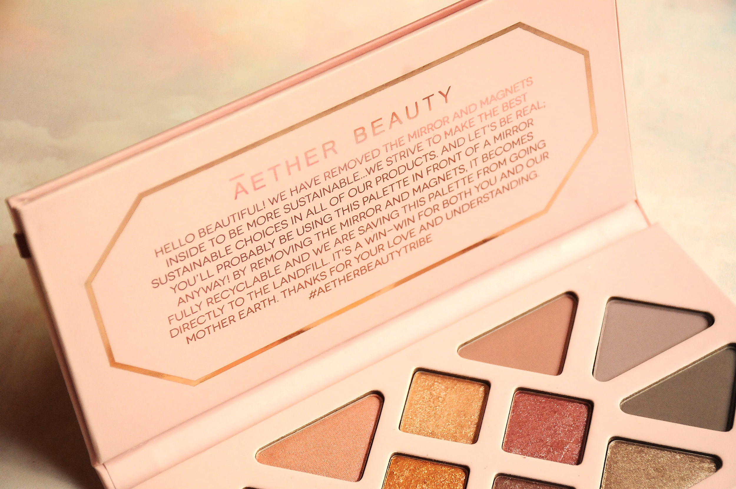 Aether Beauty Rose Quartz Palette Review + Swatches