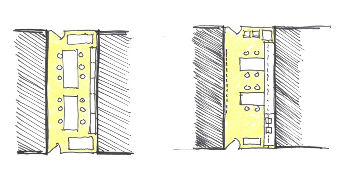 Potential layouts for our print room