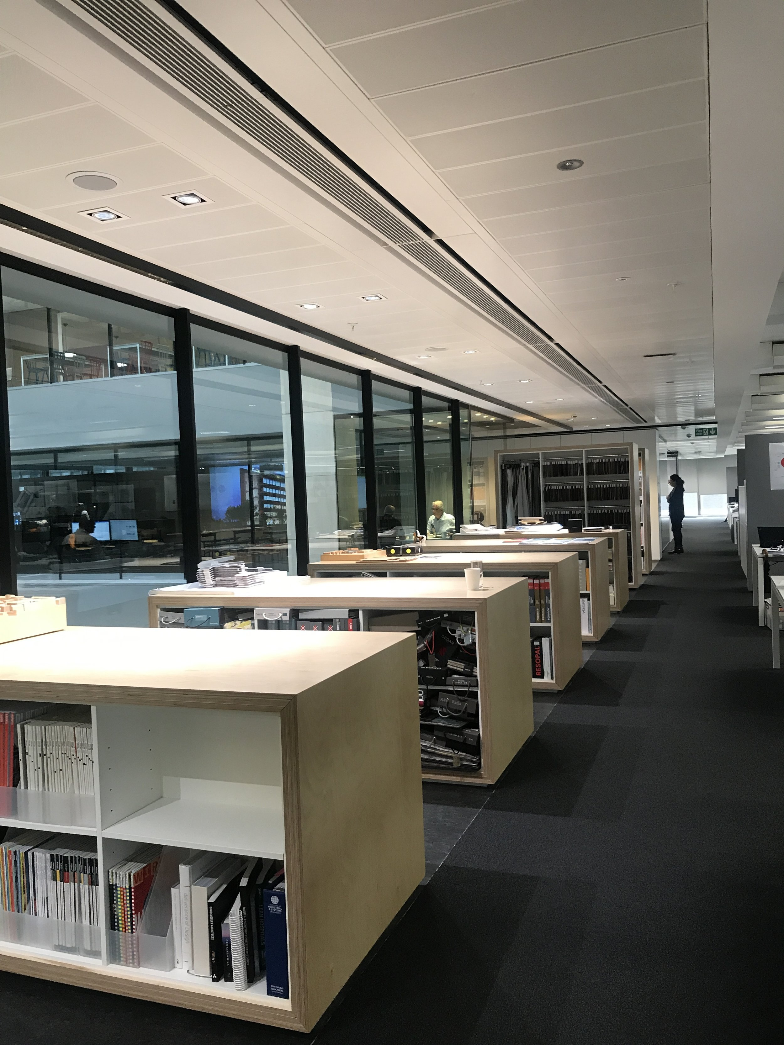 The materials library located near the reception desk
