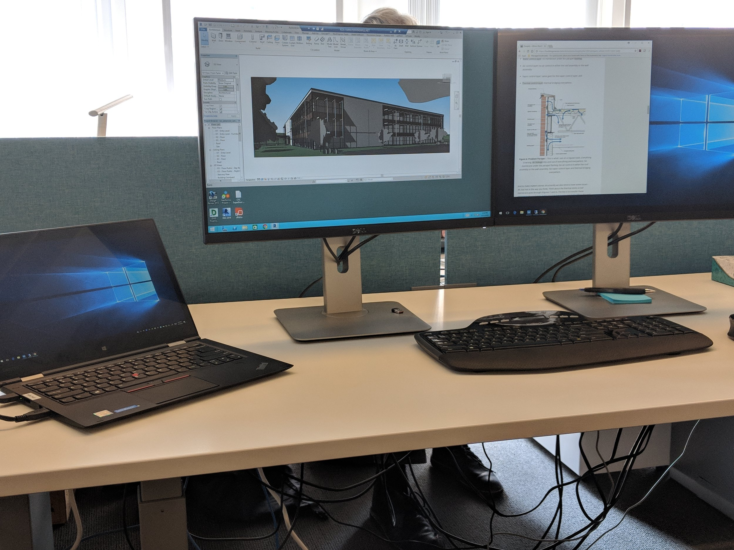 Dockable laptops and dual monitors have been a highly-successful combination in our office.