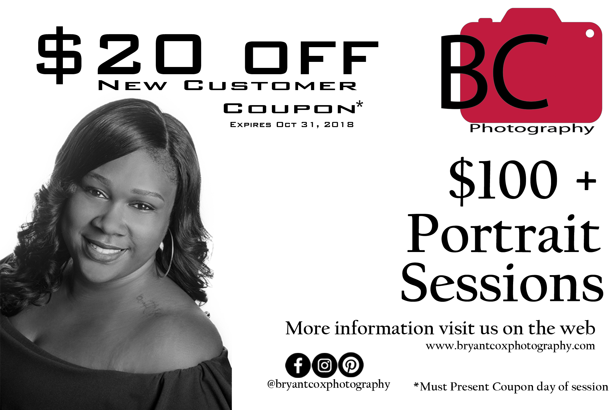 Click and print the above coupon to redeem, bring to your session.