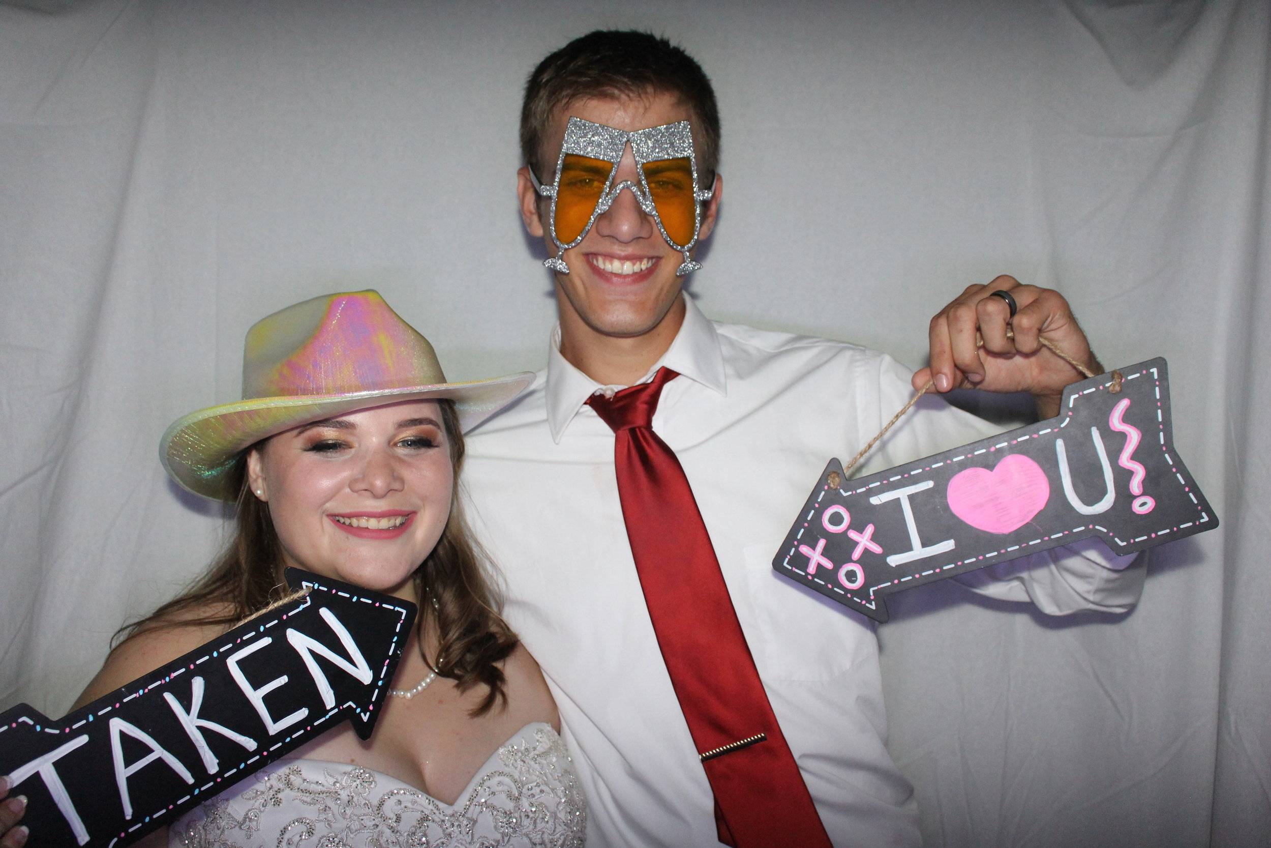 Inside Photo Booth Wedding