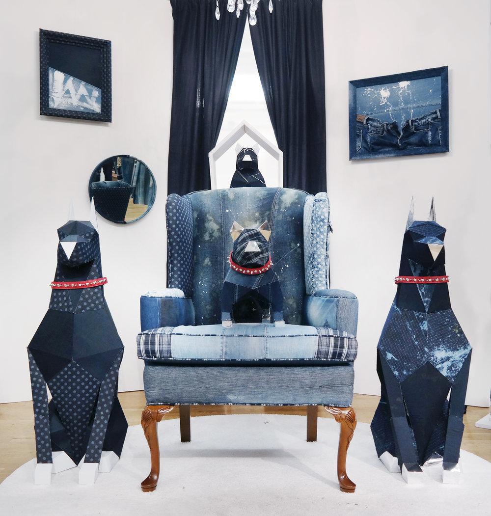 Denim Dog Showcase by Heemin Moon
