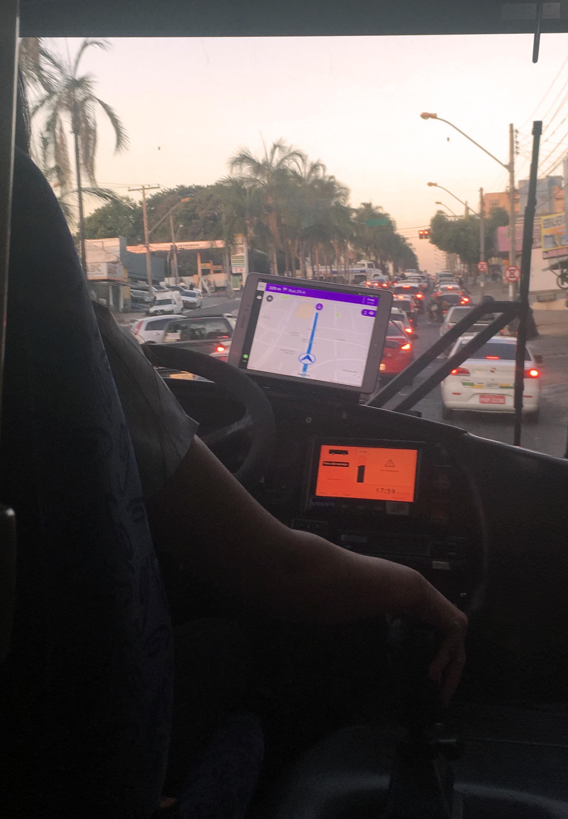 Test run in the city of Goiânia