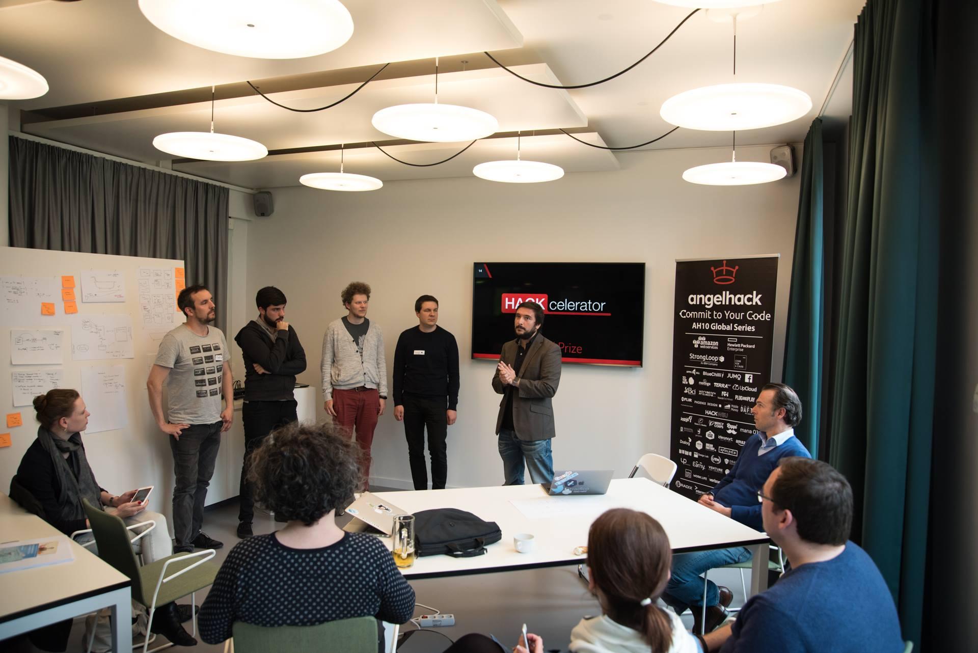 Receiving feedback on the angelhack hackathon