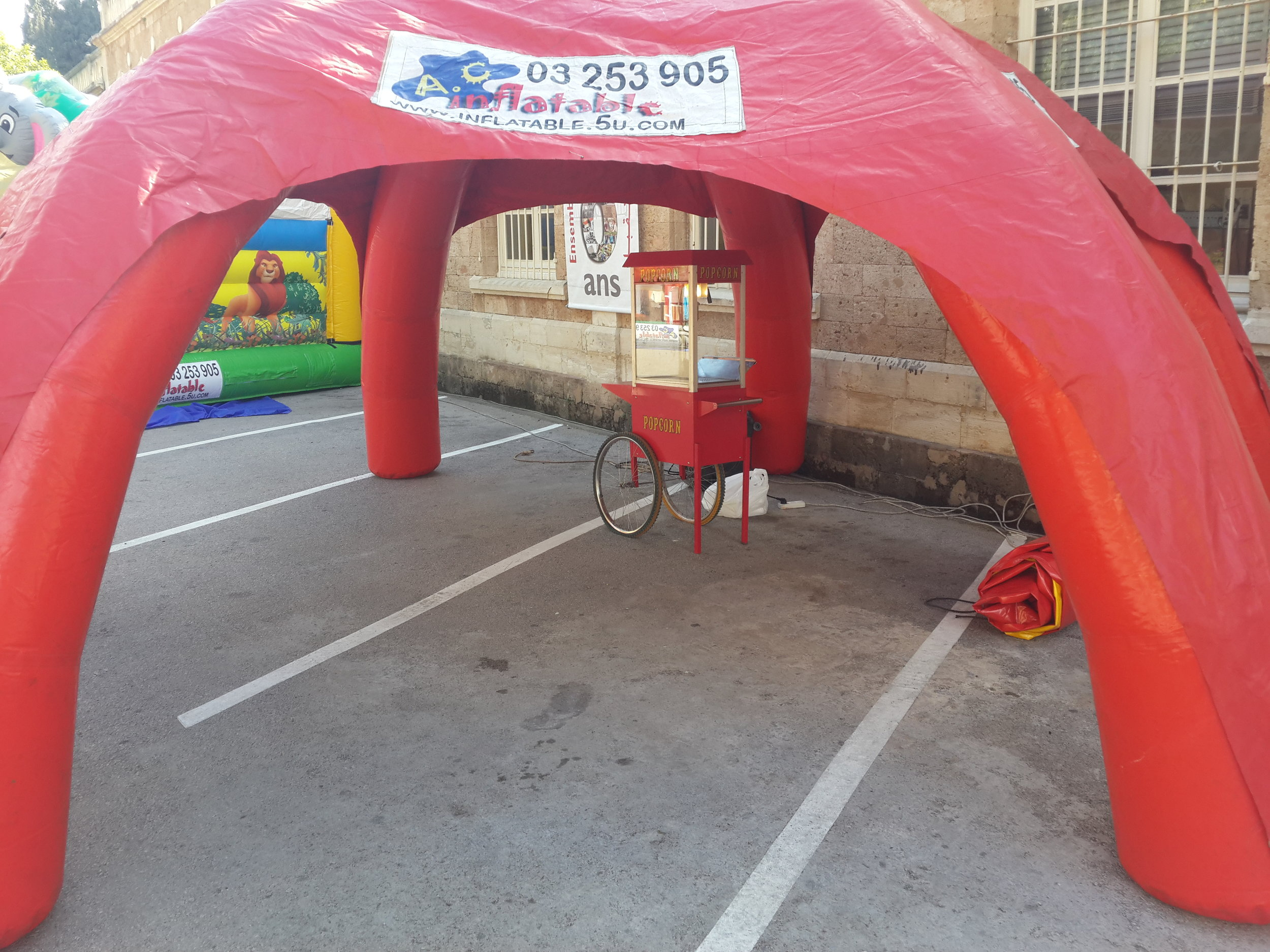 Red Tent for Decoration and Festival Entrance