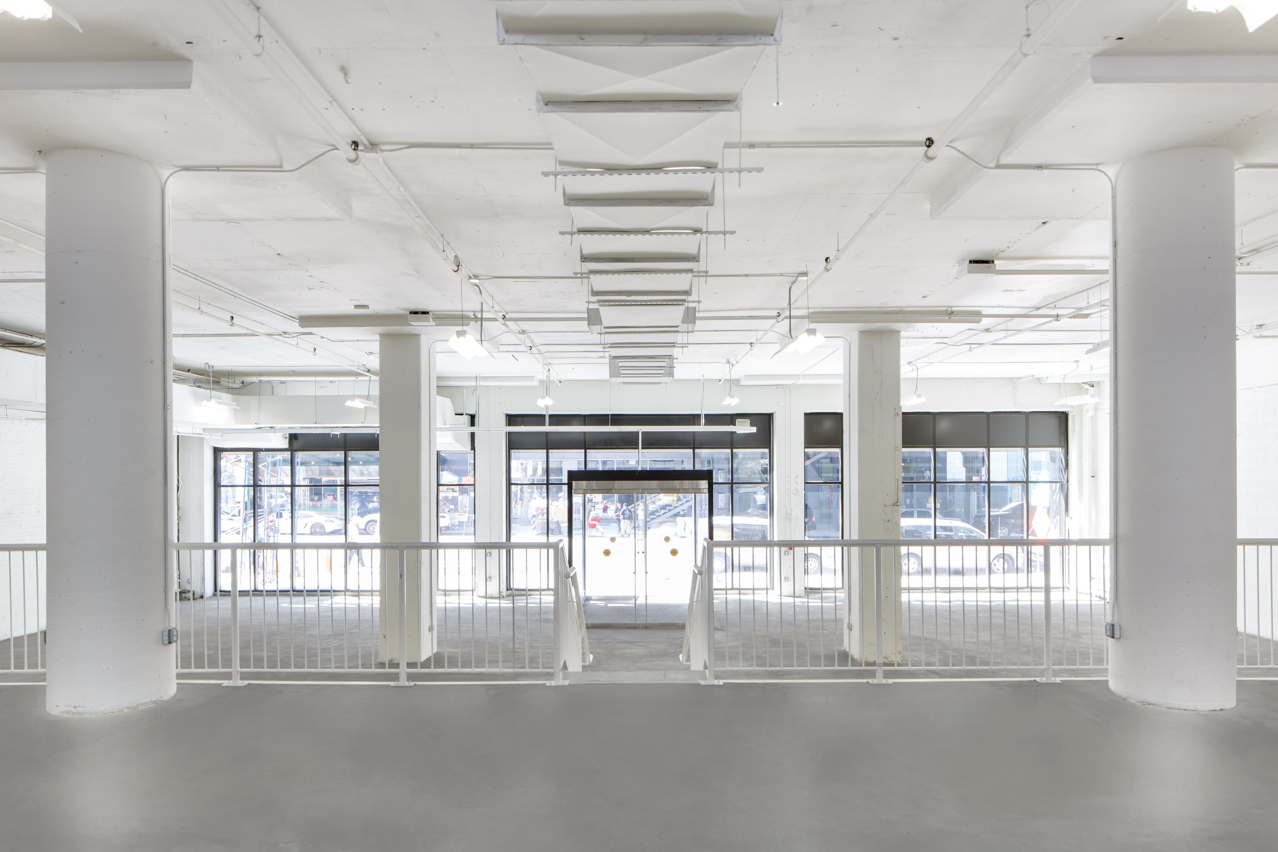 Interior shot from rear of the venue