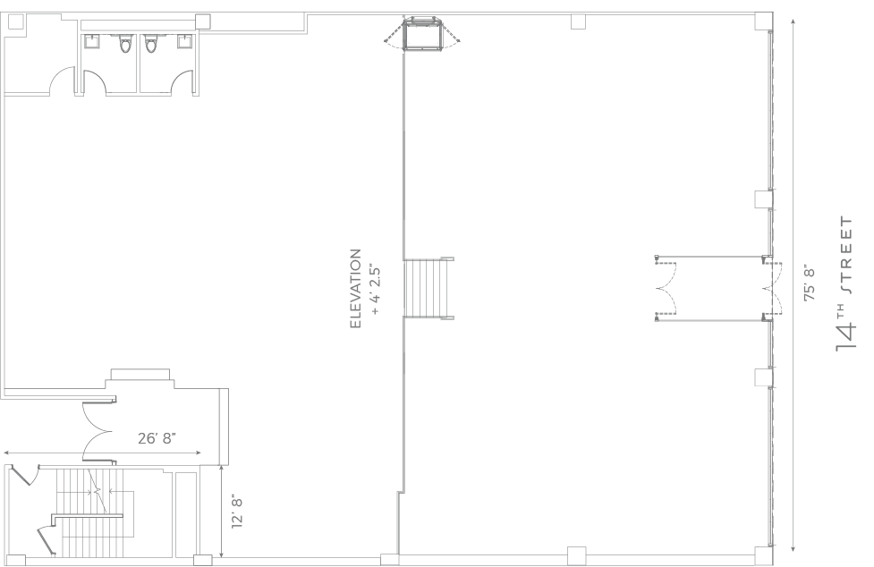 14th Street Garage Floor Plan
