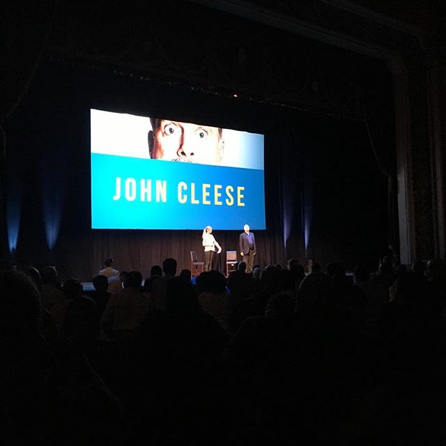 John Cleese was awesome. So glad I got to see him tonight. Very last minute and I really thought I would miss him this time.