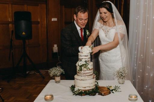 Wedding cake baked in Glasgow.JPG