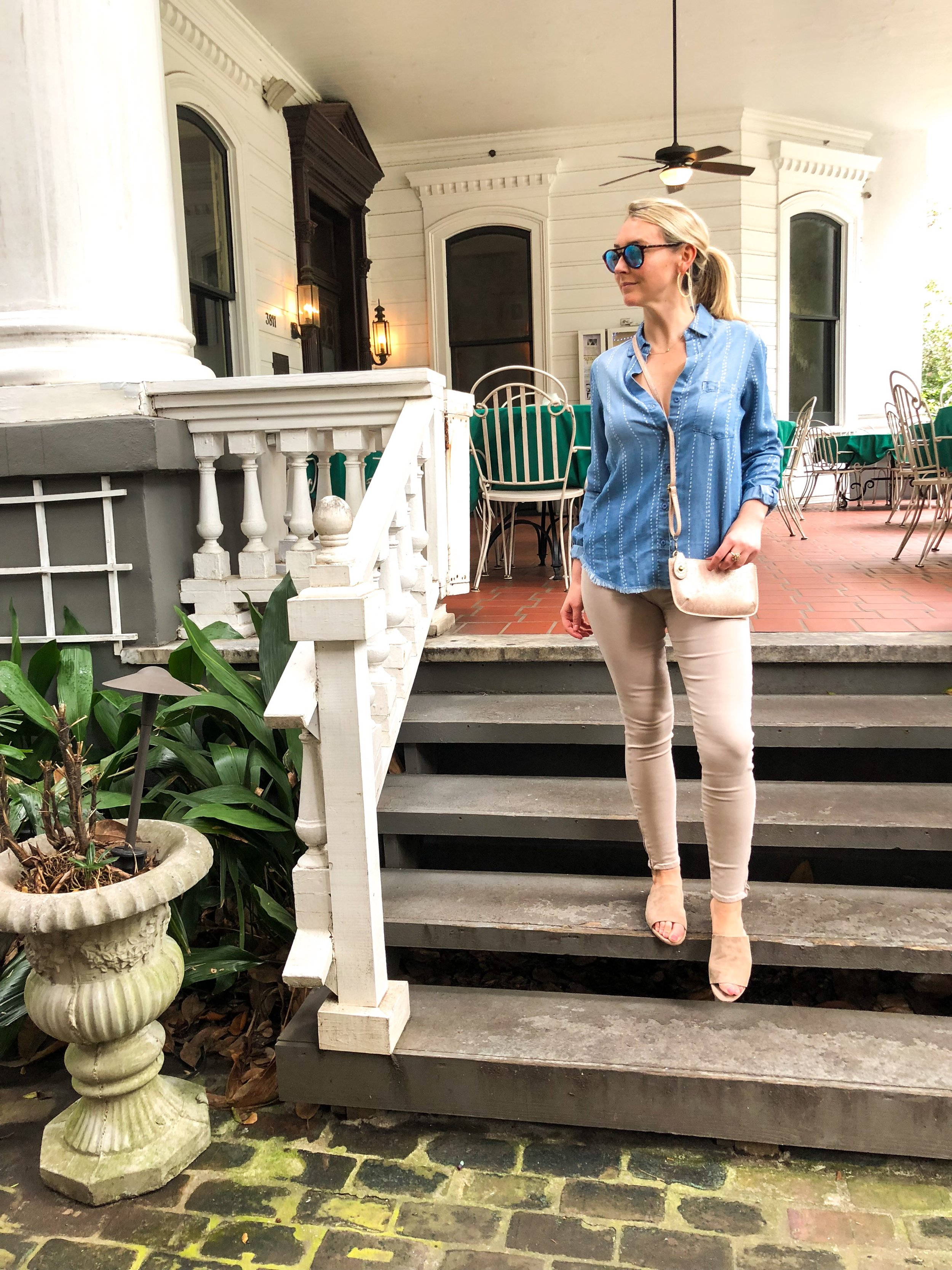Second Look - Fidelity jeans + Button Down + Flats