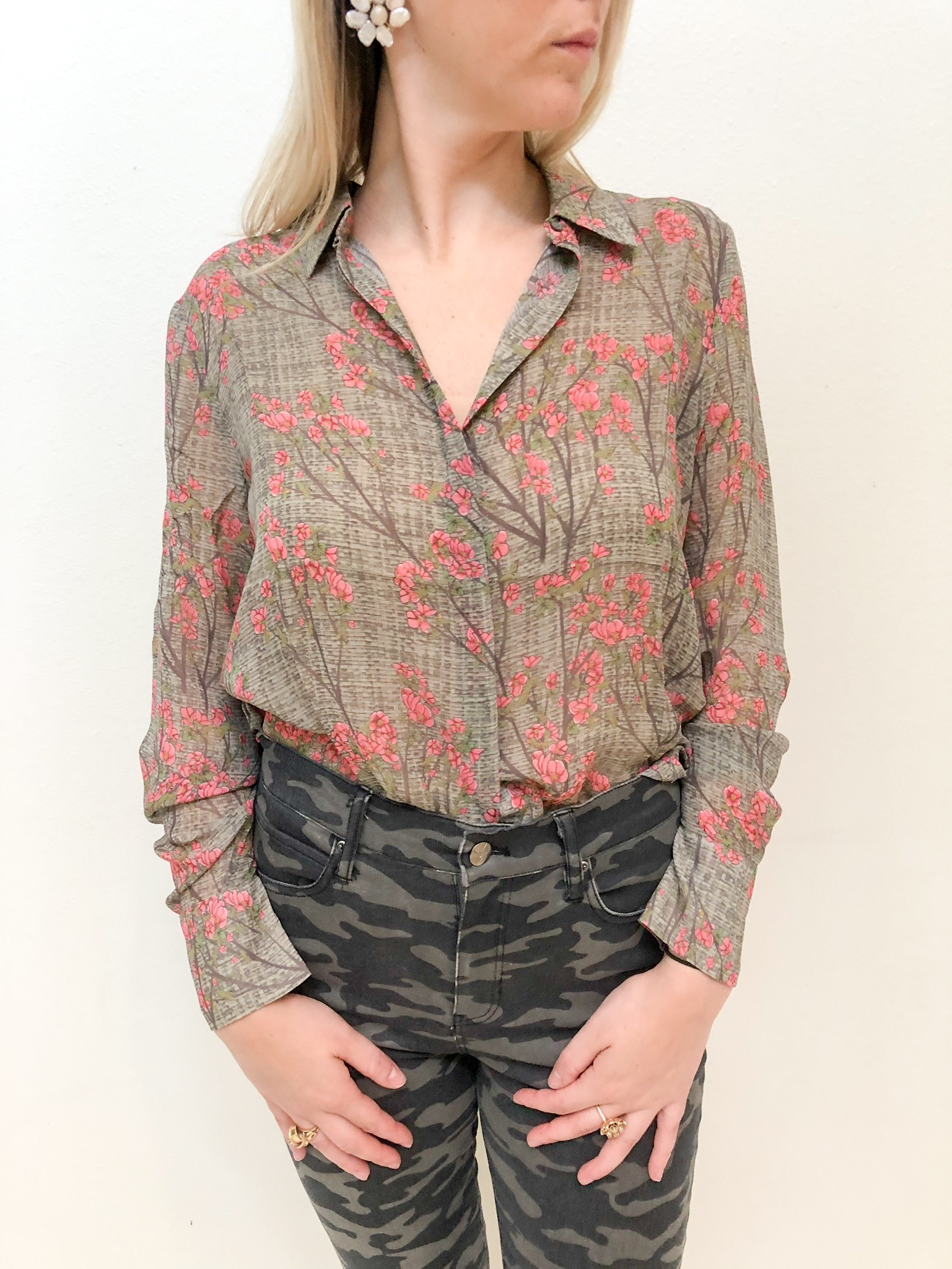 Fifth Look: - Fifth Look: Another top that makes the case for fall florals over spring florals.