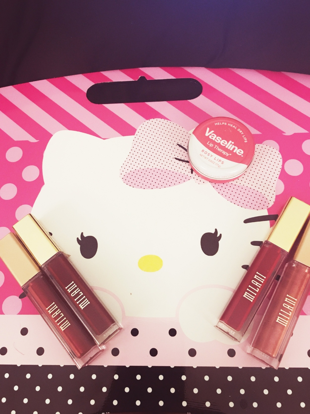"""Featuring Milani """"Amore Matte Lip Creme"""", shades: """"Fabulous"""", """"Overdramatic"""", """"Pretty Promblematic"""", and """"Devotion"""""""