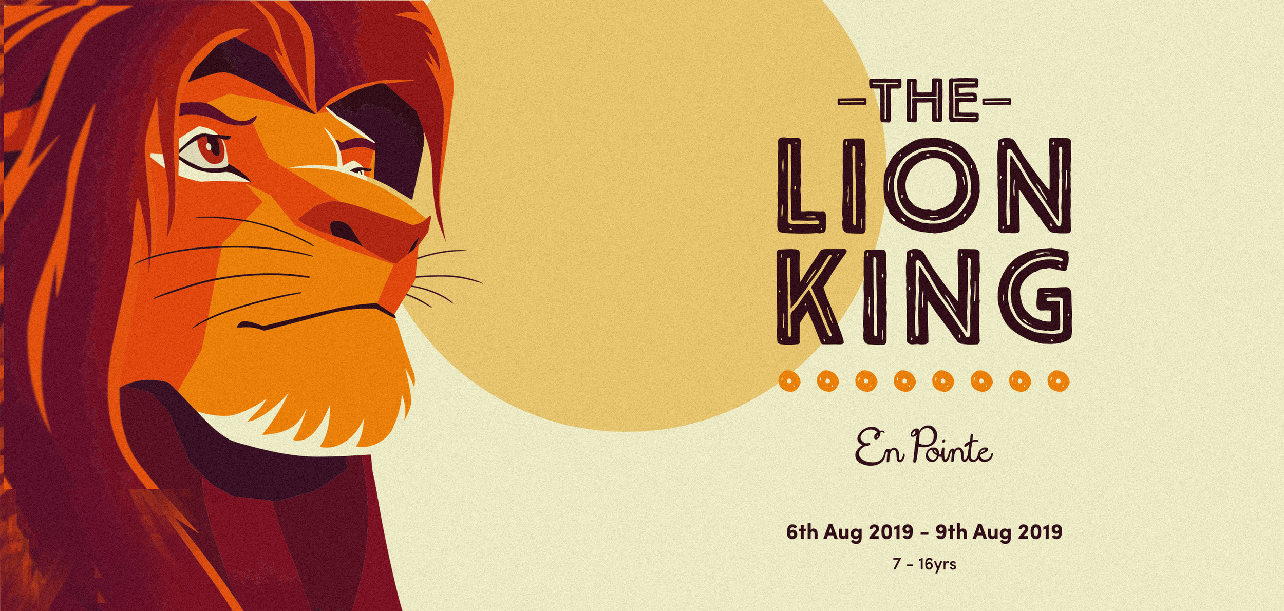 The Lion King workshop at En Pointe York / 6th Aug - 9th Aug 2019