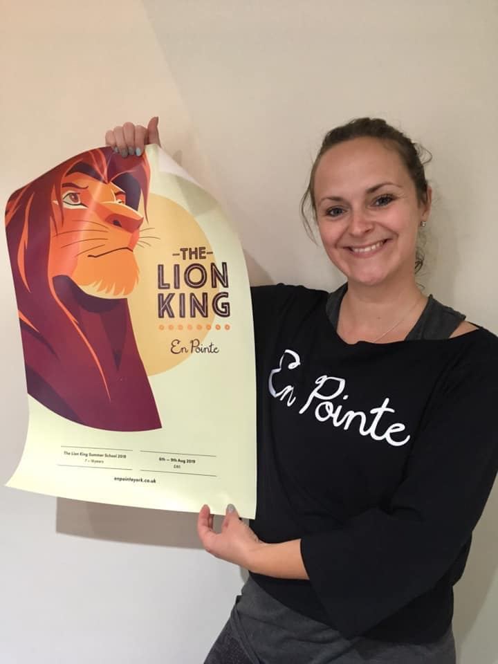 Miss Donya with the Lion King Poster - Summer Workshop York