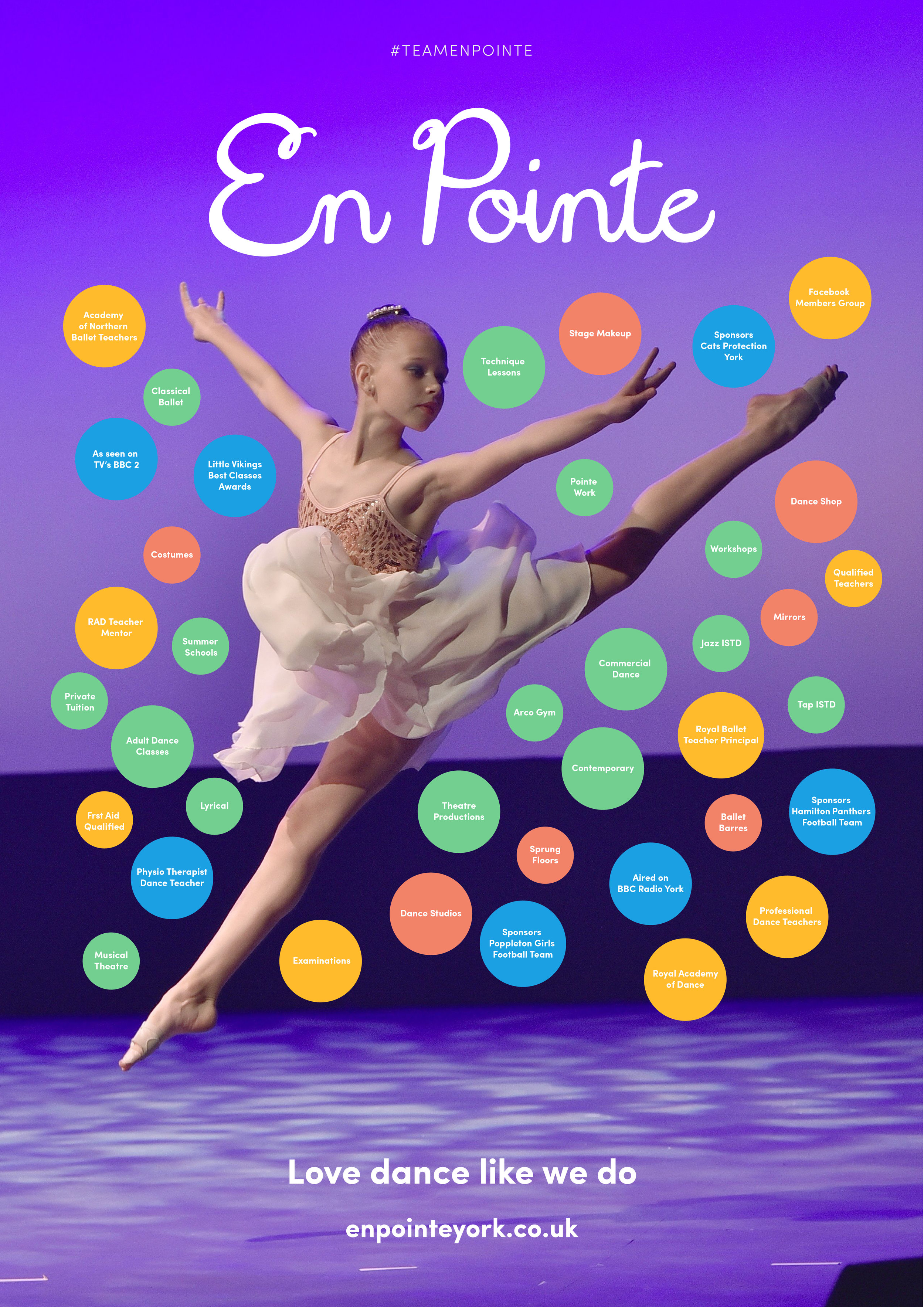 En Pointe Ballet Dance Infographic design, York, Dance School