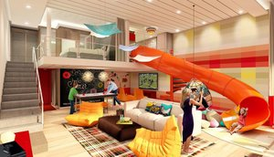 This ship introduces the 2 level Family Suite that looks like a party.