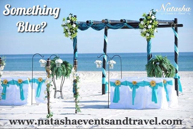 What does your dream #destinationwedding look like? #somethingblue #wedding #beachwedding #oceanasabackdrop #natashaeventsandtravel #destinationweddingspecialist