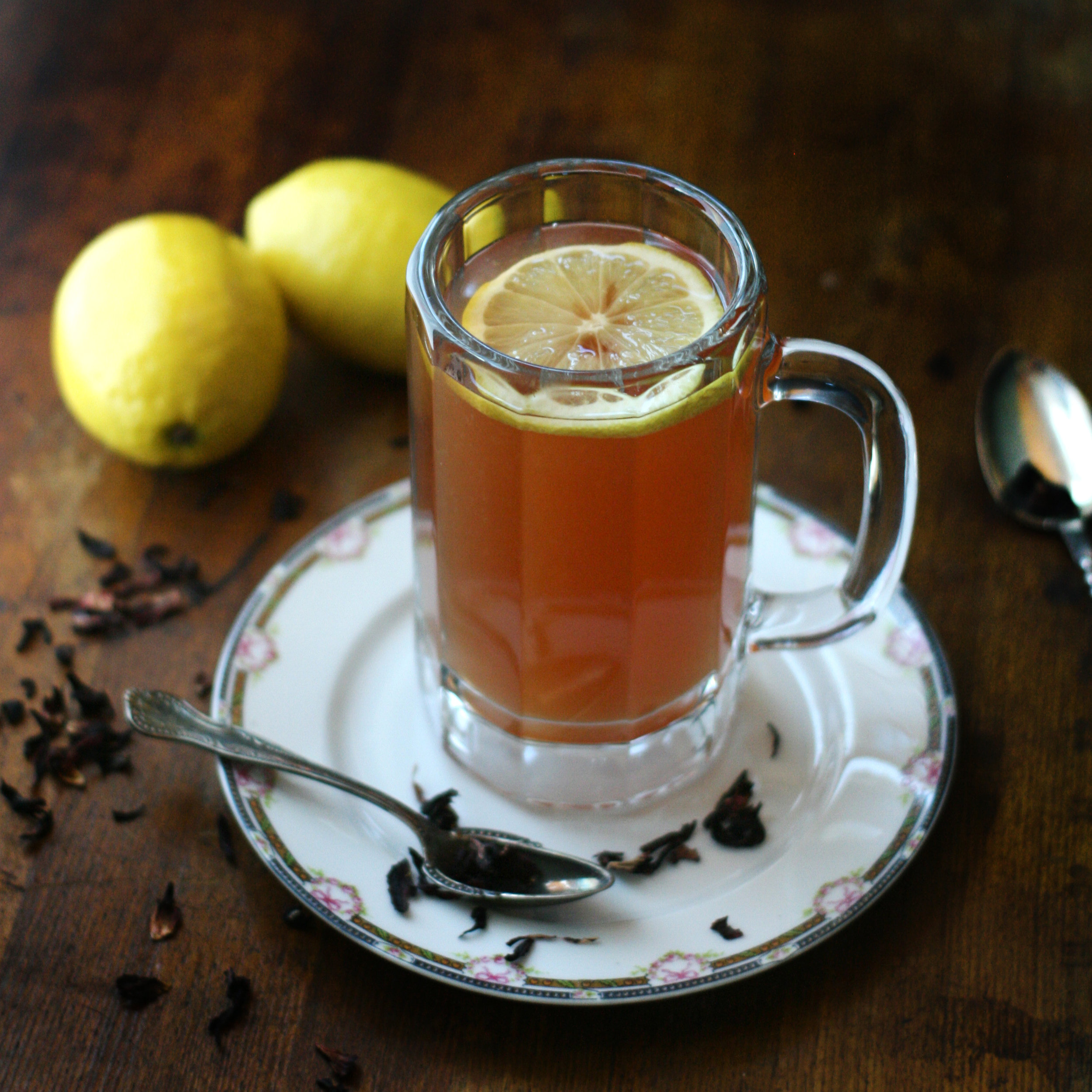 Tulsi Hot Toddy - Organic Cinnamon Rose Holy Basil Hot Toddy - Stress relieving tulsi basil cocktail