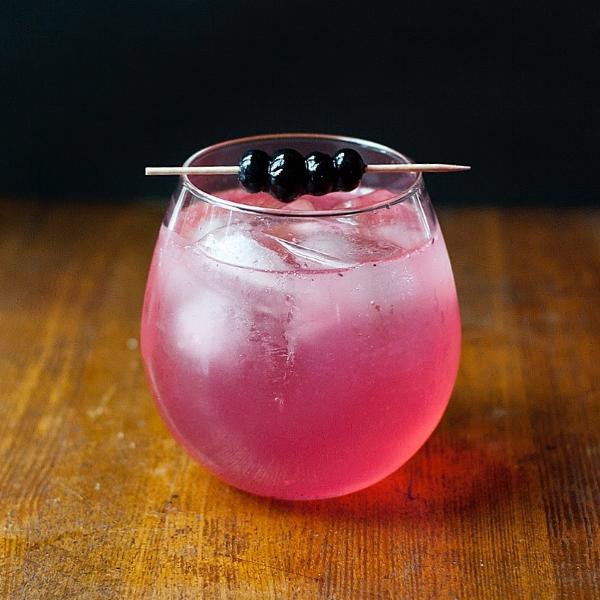 Blueberry Gin + Tonic