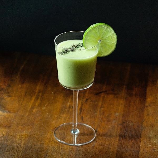 Ginuary Gimlet - a gin gimlet with organic herbs - nettles, gotu kola, peppermint