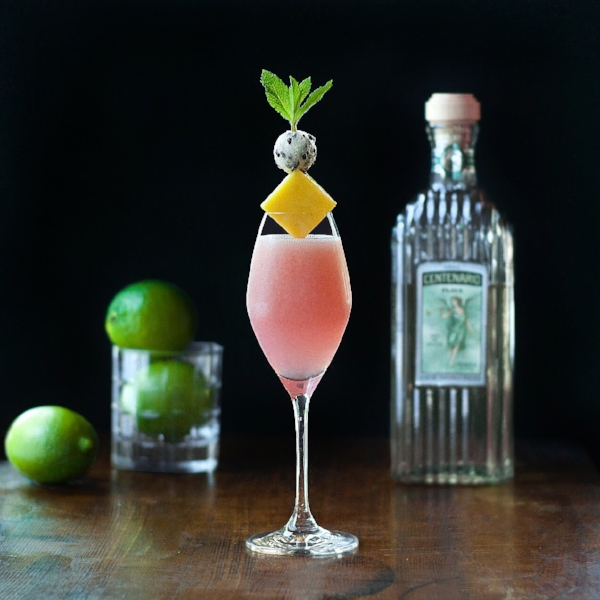 Dragon Flower - A Tequila, Dragonfruit, Mango and Hibiscus Cocktail