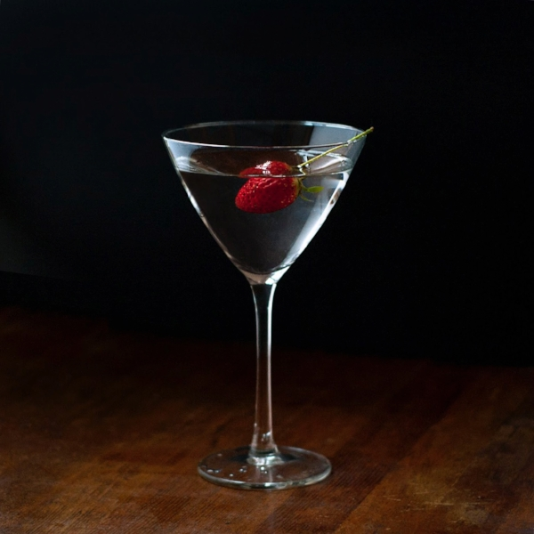 Buddha's Martini - a botanical gin martini with rose water and Buddha's Hand syrup