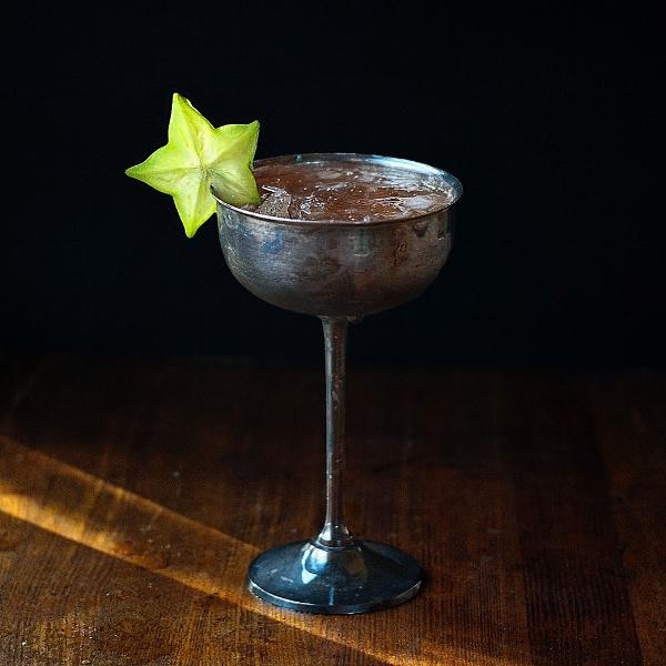 Hoku Hele - a tiki cocktail with rum, pineapple, cinnamon and sage