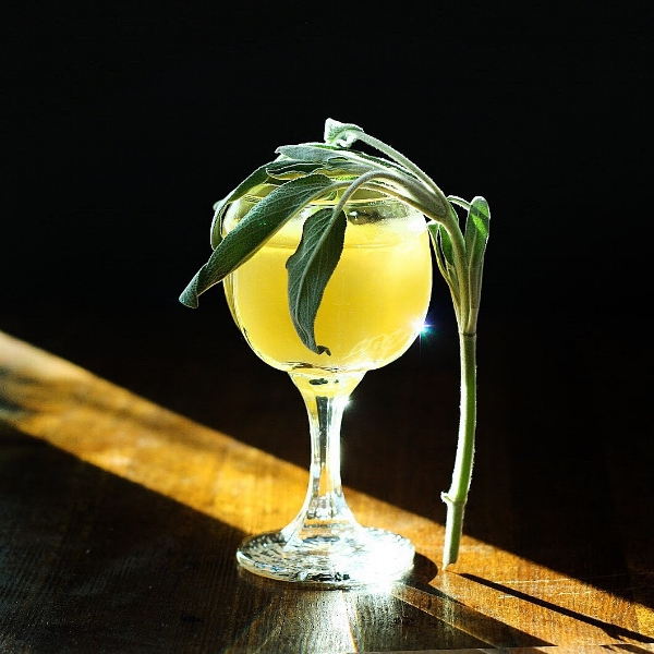 Golden Hour - gin, pineapple, sage cocktail