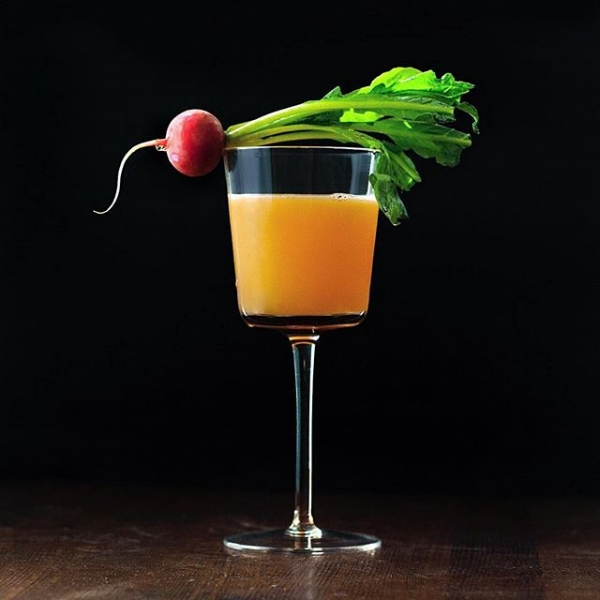 Spring Salad - a lemon, radish and clementine cocktail