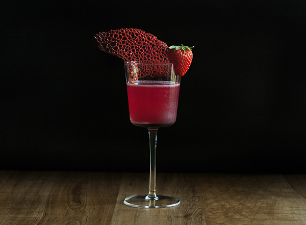 Moody Mixologist - Coral Tuile Cookie Garnish Tutorial
