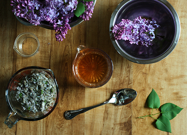 Making Lilac Liqueur