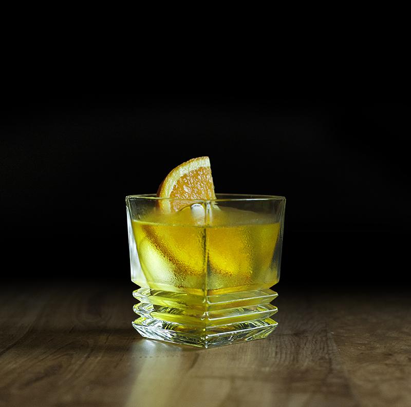 Elan Collective The Jackson Rocks Glass - Yellow Negroni