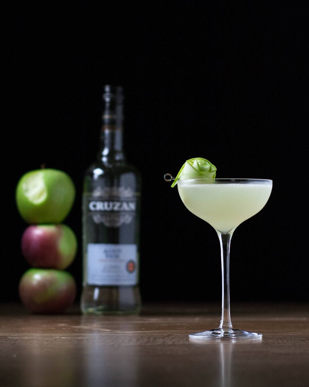 First Frost - a white rum, Chartreuse, apple cinnamon cocktail for fall.jpg