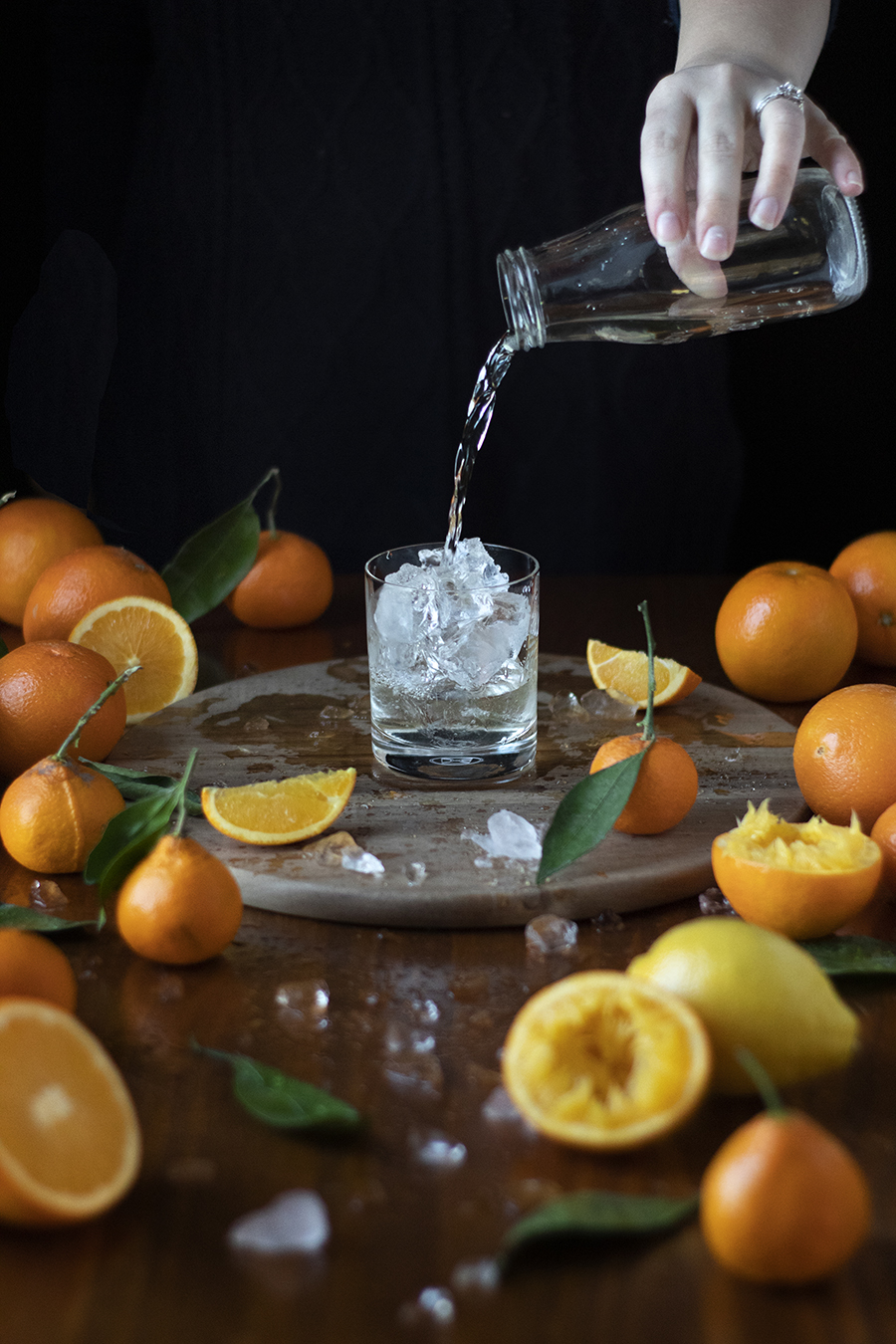 how to make a crystal clear milk clarified screwdriver with satsuma mandarin juice