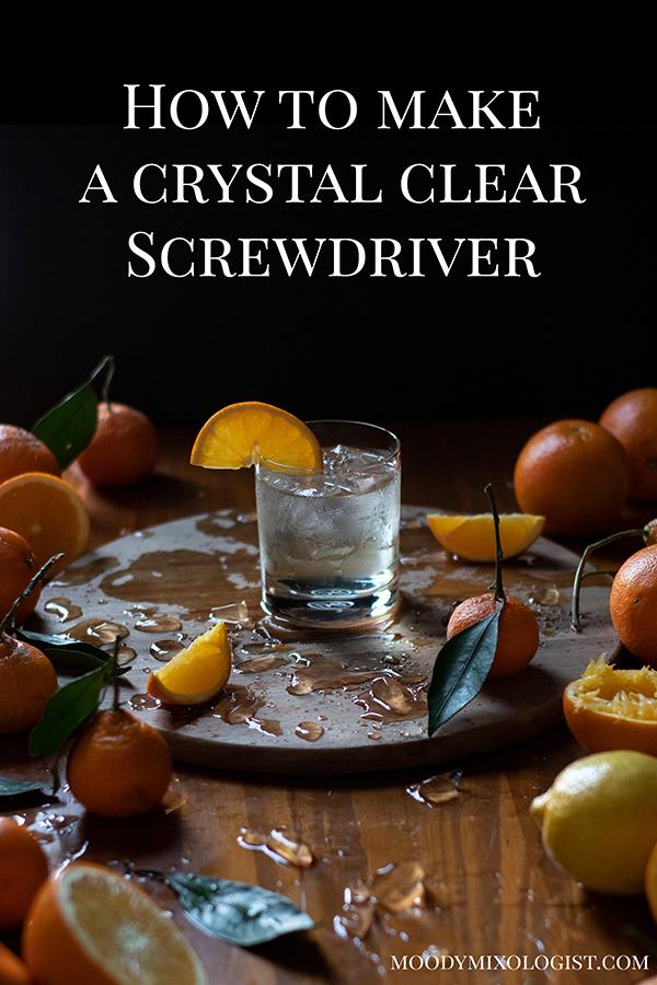 how to make a milk clarified screwdriver