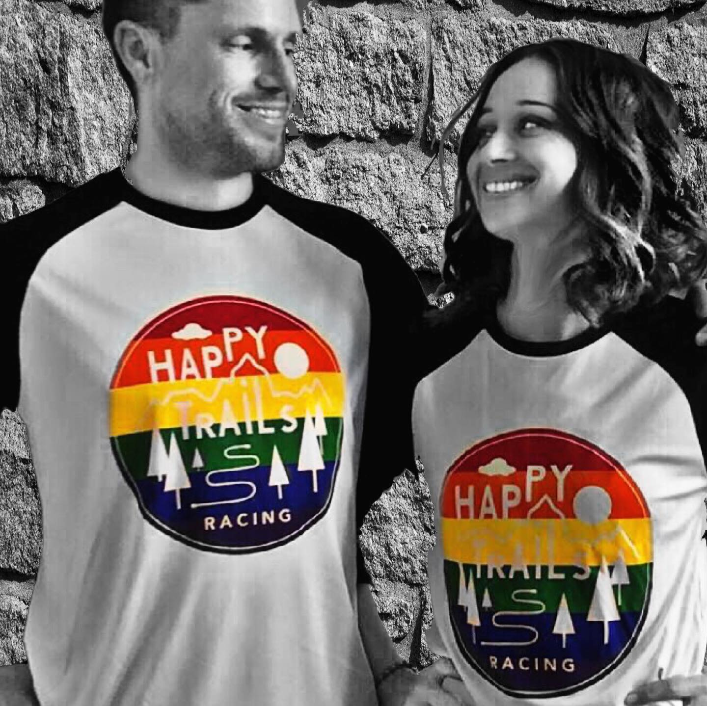 Happy Trails Racing's 2019 Pride Month shirt, designed by Heather
