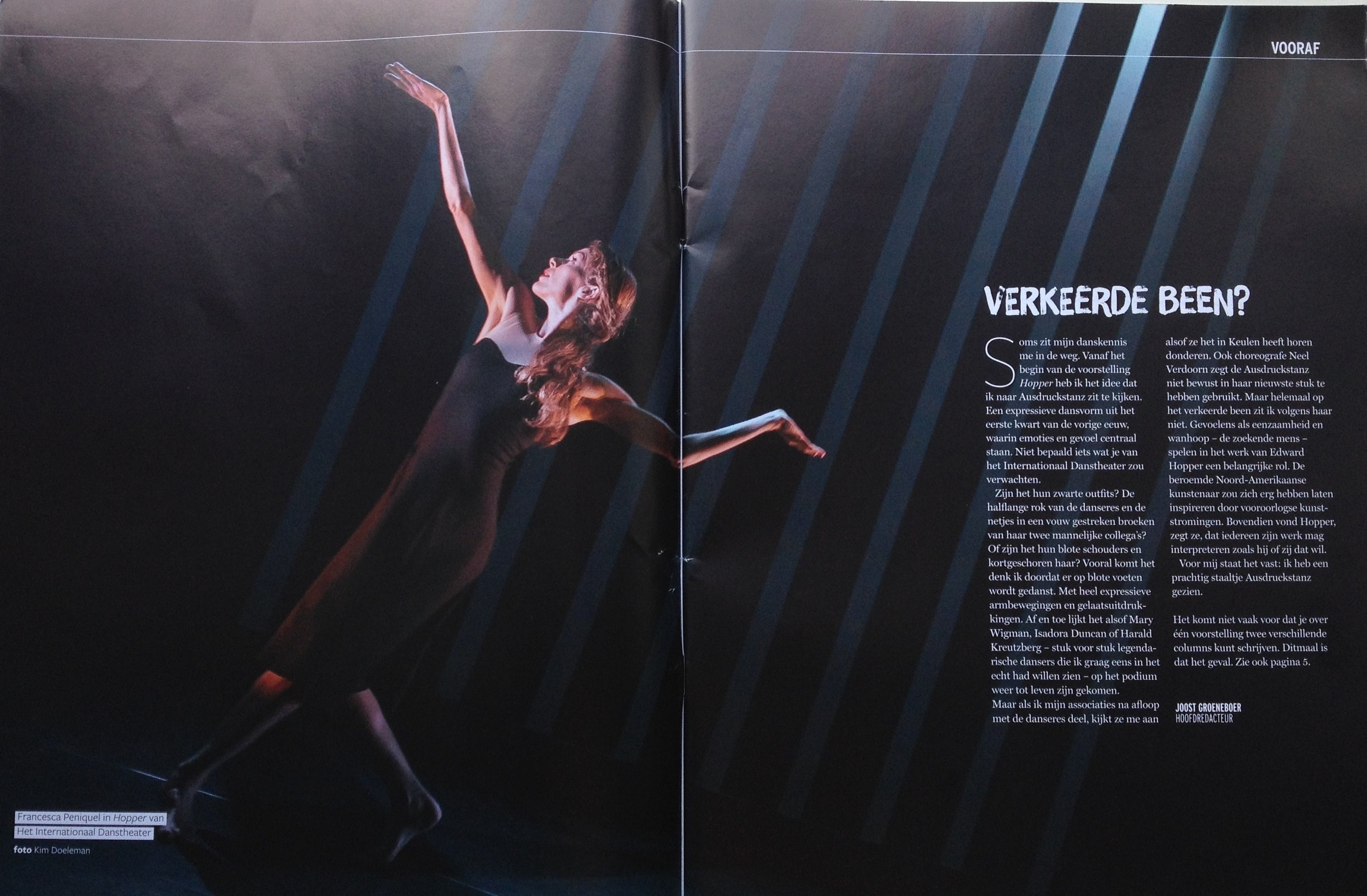 Publication Het Internationaal Danstheater in Dansmagazine