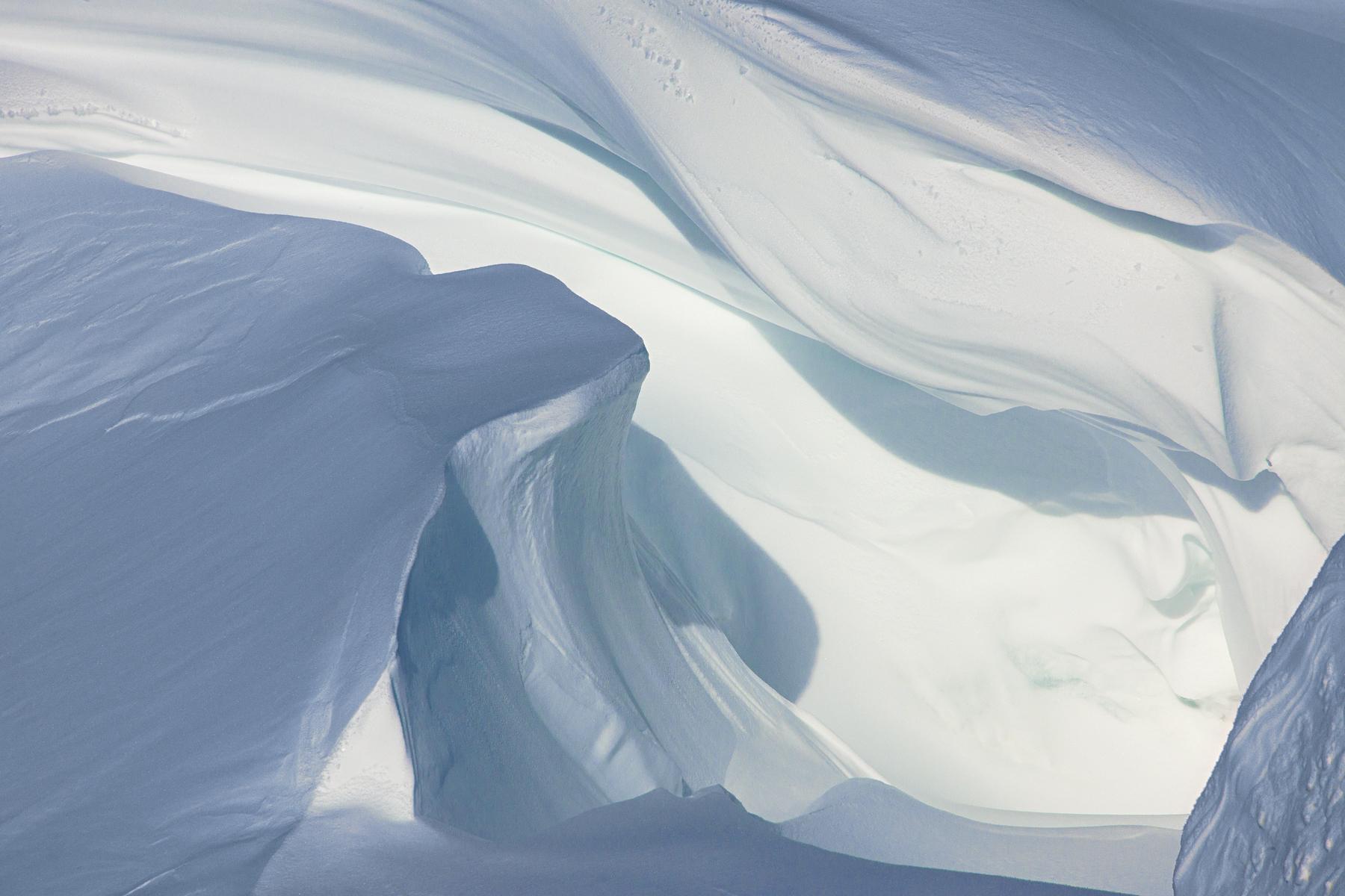 Snow Folds, Scott Base Pressure Ridges
