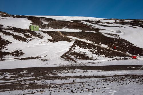 The trek uphill