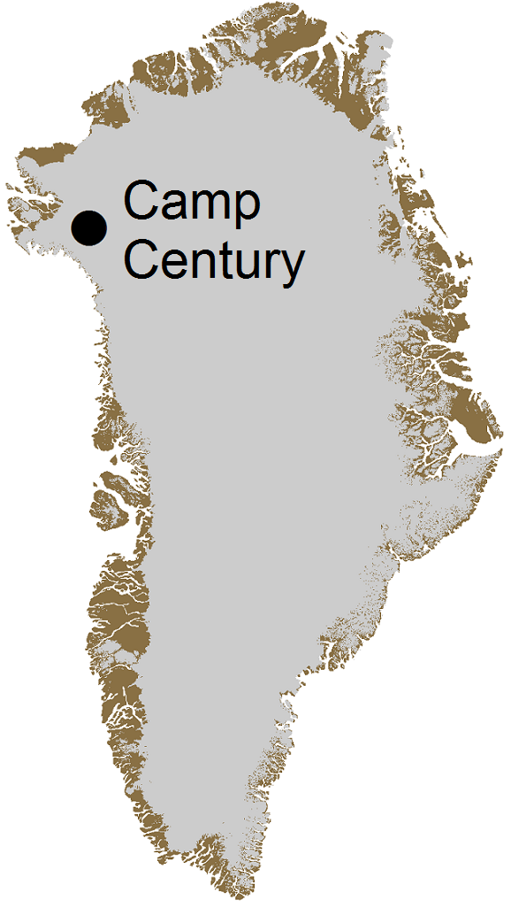The location of Camp Century in Greenland.    Credit : William Colgan