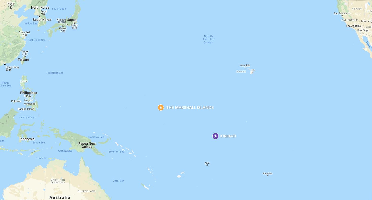 The Marshall Islands and Kiribati