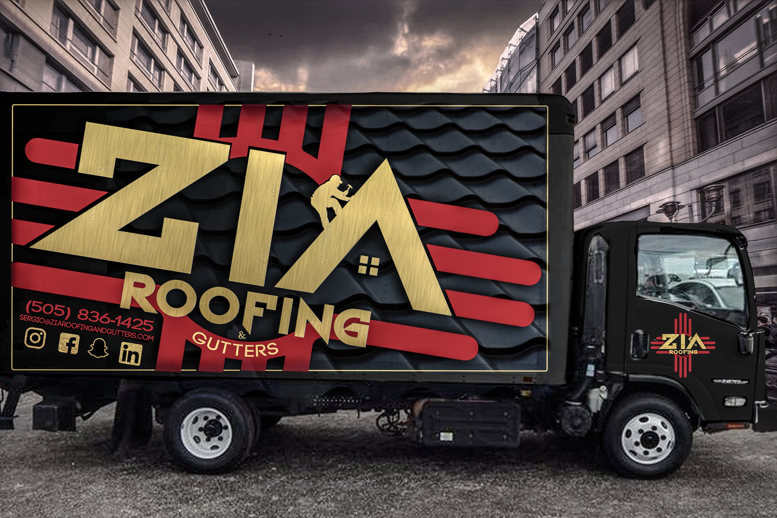 Contact Zia Roofing and Gutters for all of your roofing needs; new roofs, damaged roofs, repairs, seamless gutters and upvc gutters as well.