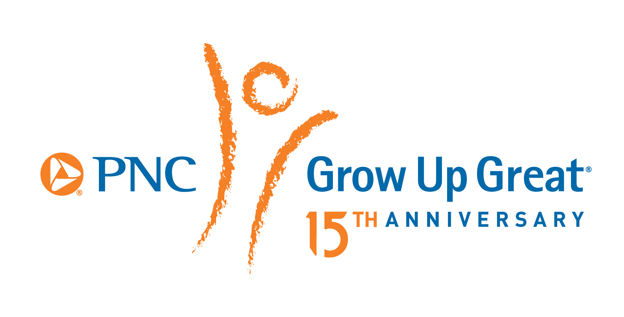 PNC Grow Up Great 15th Anniversary logo