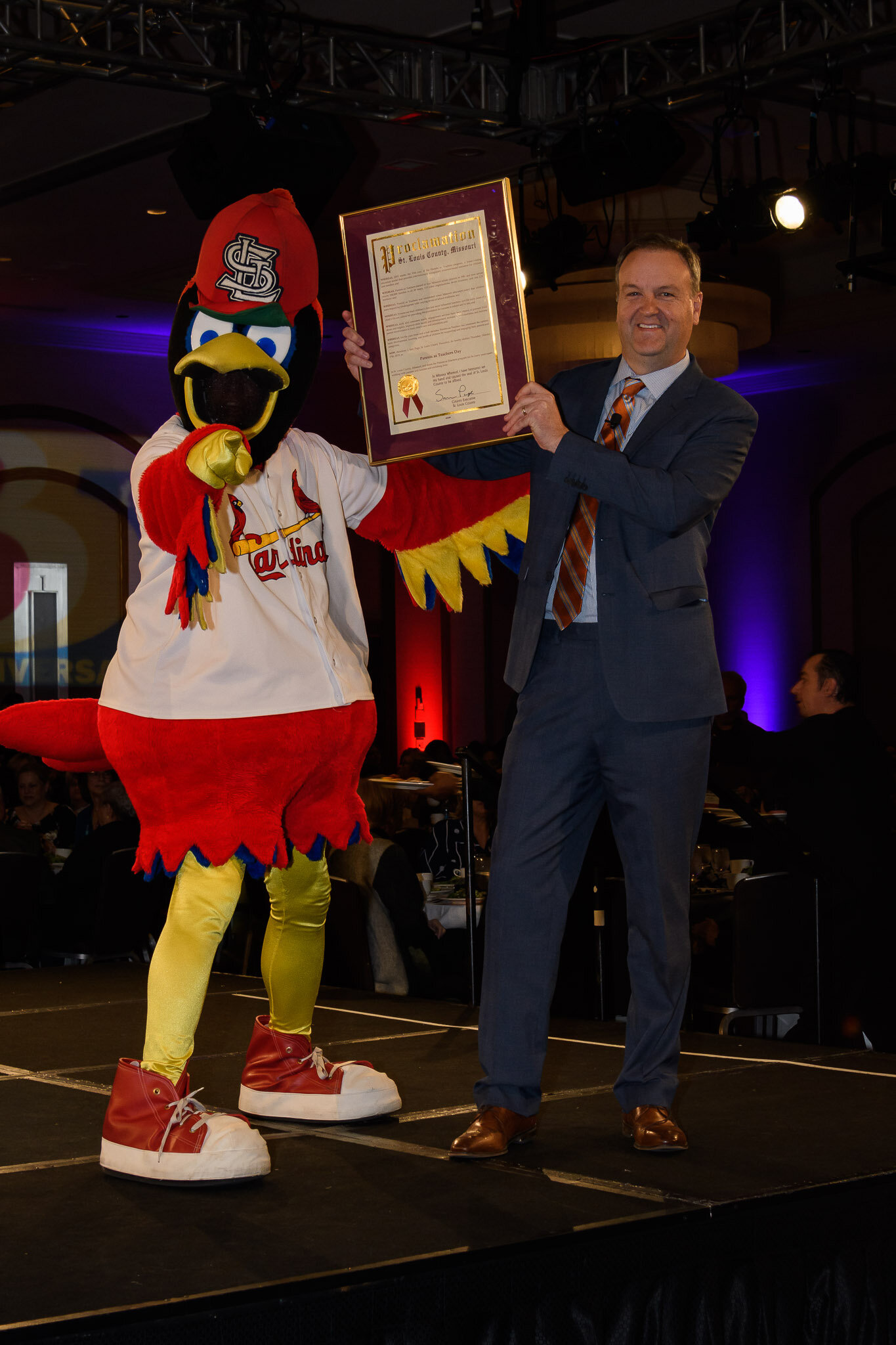Proclomation from St. Louis County Executive Dr. Sam Page and Fredbird_DSC_4503.jpg