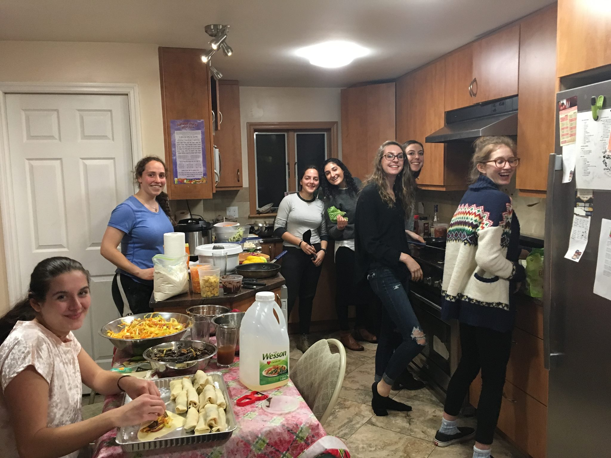 Cooking for  Shabbat  at Chabad on Fulton
